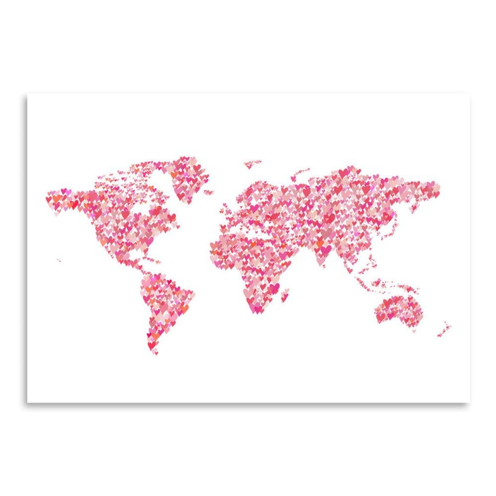 Plagát Americanflat World Blush, 30 x 42 cm