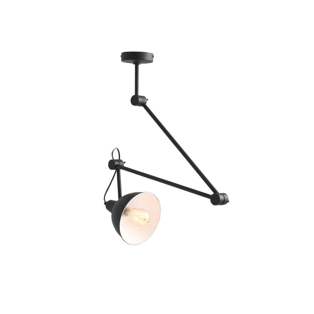 Čierne závesné svetlo Custom Form Coben