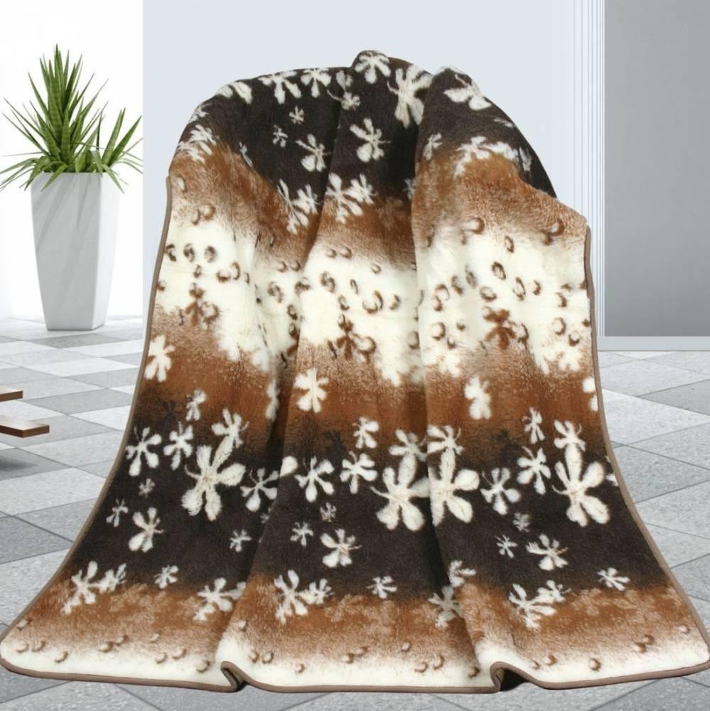 Bellatex Vlnená deka Kvety, 155 x 200 cm