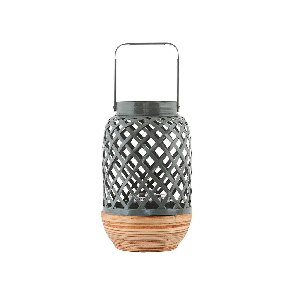 Sivý bambusový lampáš House Doctor Breeze