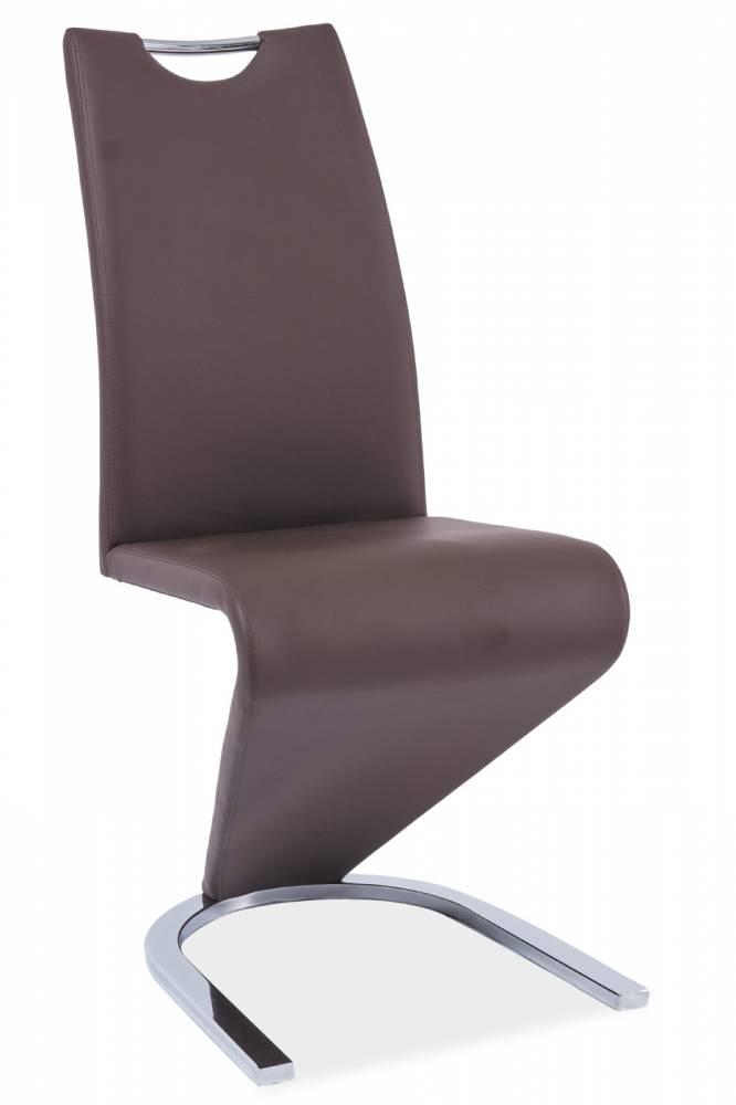 Jedálenská stolička H-090 (ekokoža hnedá)