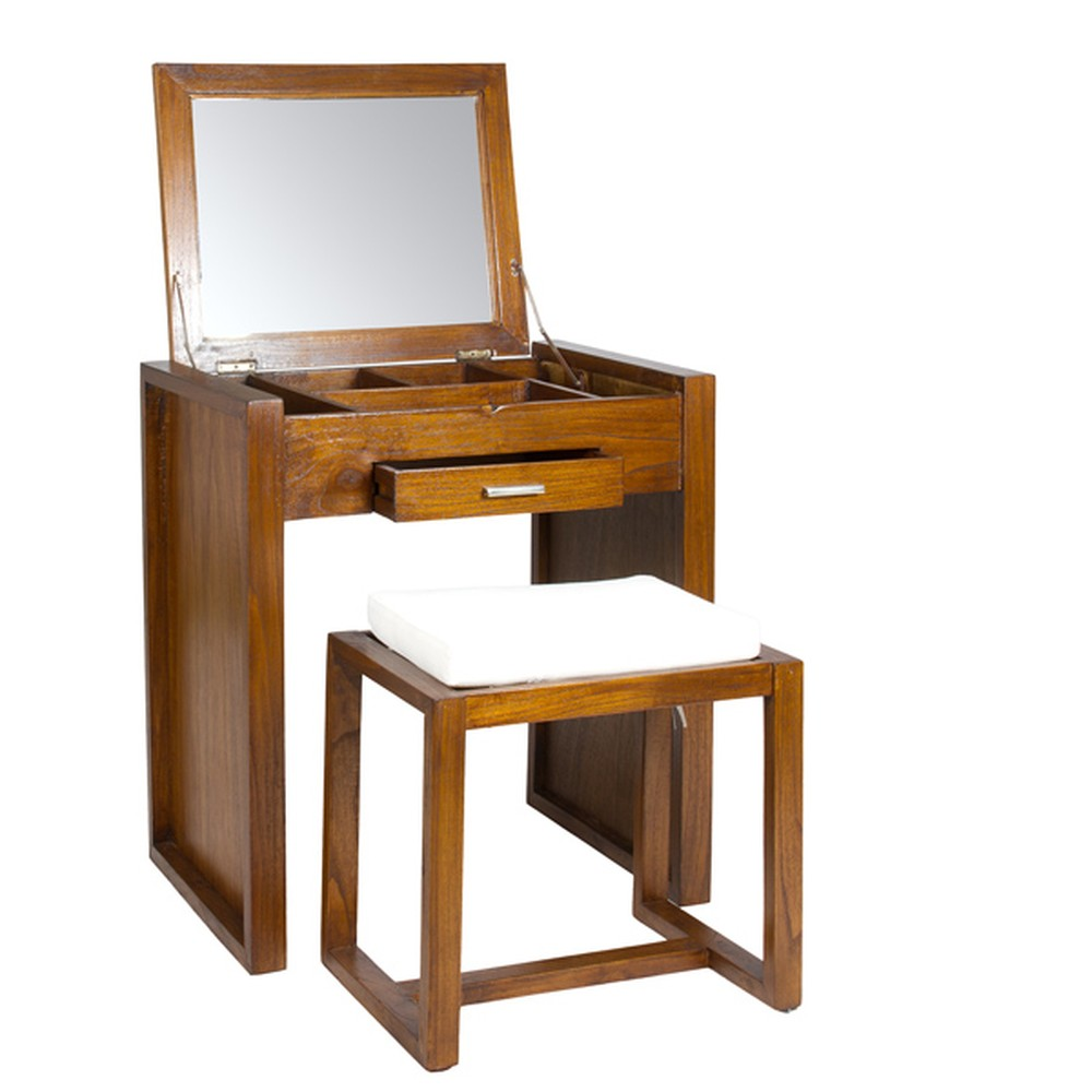 Toaletný stolík so stoličkou z dreva mindi Santiago Pons Ohio