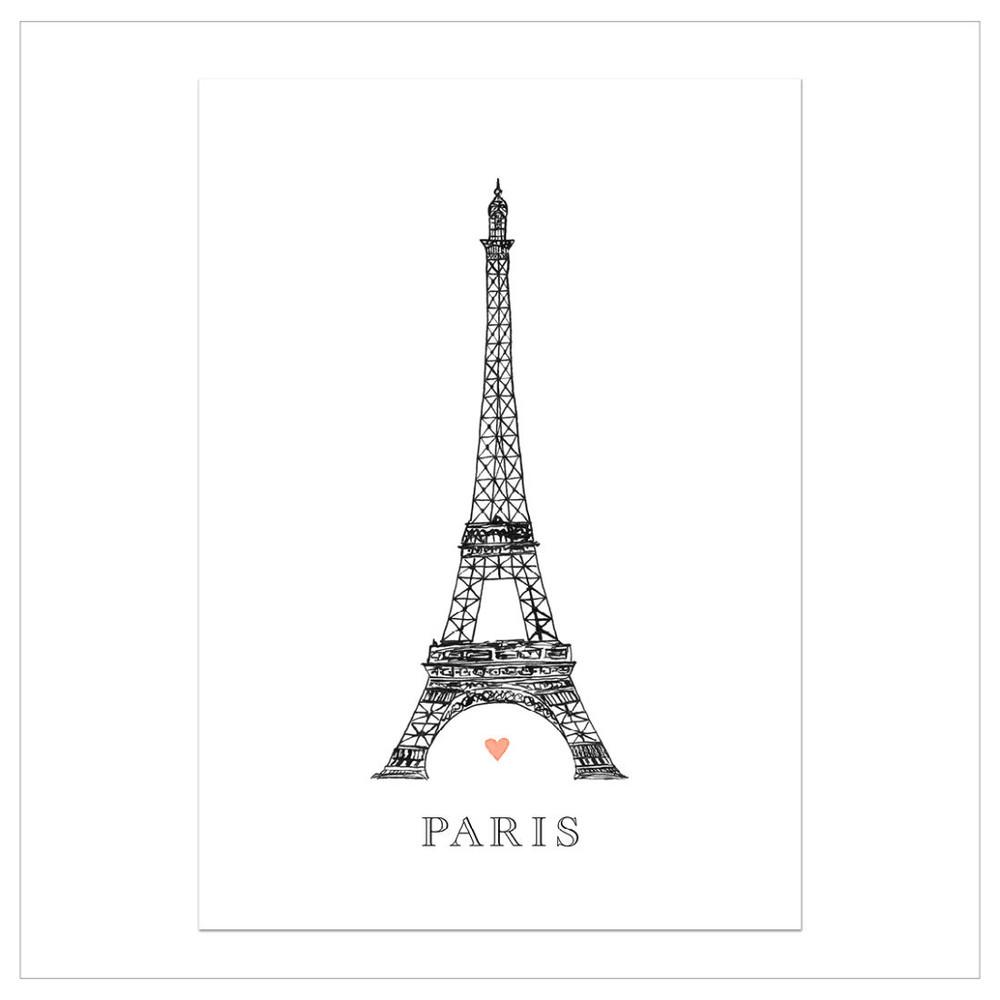 Plagát Leo La Douce Tour Eiffel, 21x29,7cm