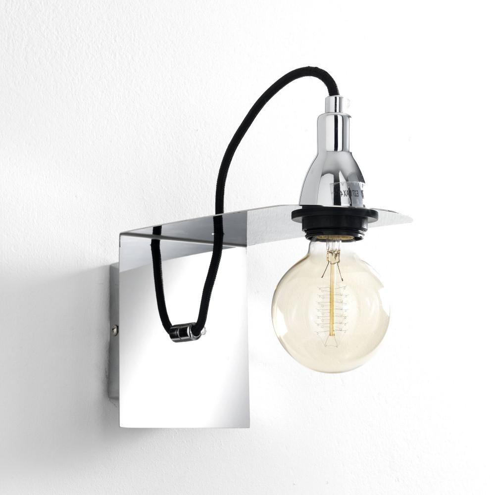 Chrómované nástenné svietidlo Tomasucci Genius