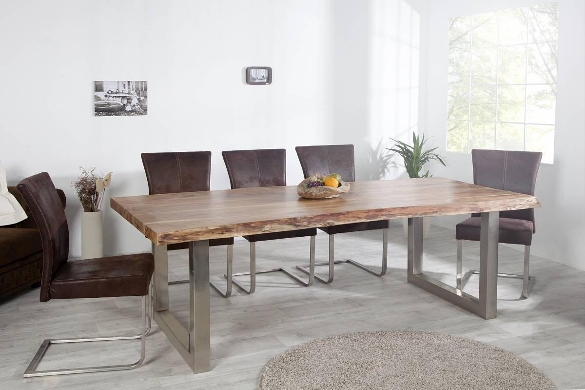 Jedálenský stôl MAMUT II 200 cm - prírodná