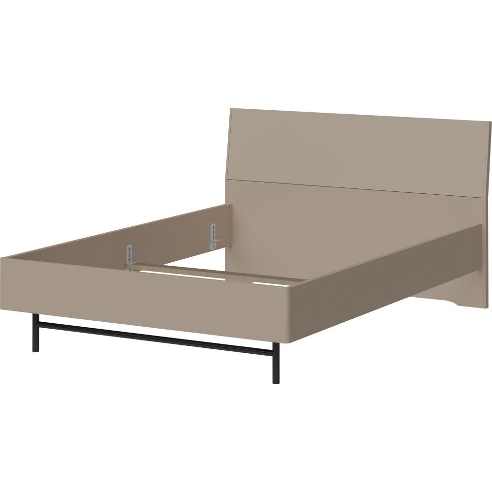 Sivá jednolôžková posteľ Germania Monteu, 140 x 200 cm