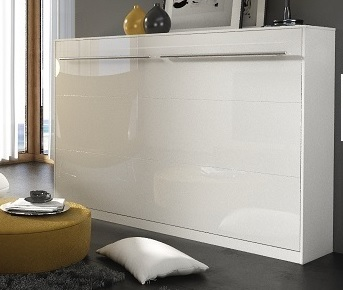 Sklápacia posteľ Concept PRO CP-06 / 90x200   Farba: biely lesk / biela