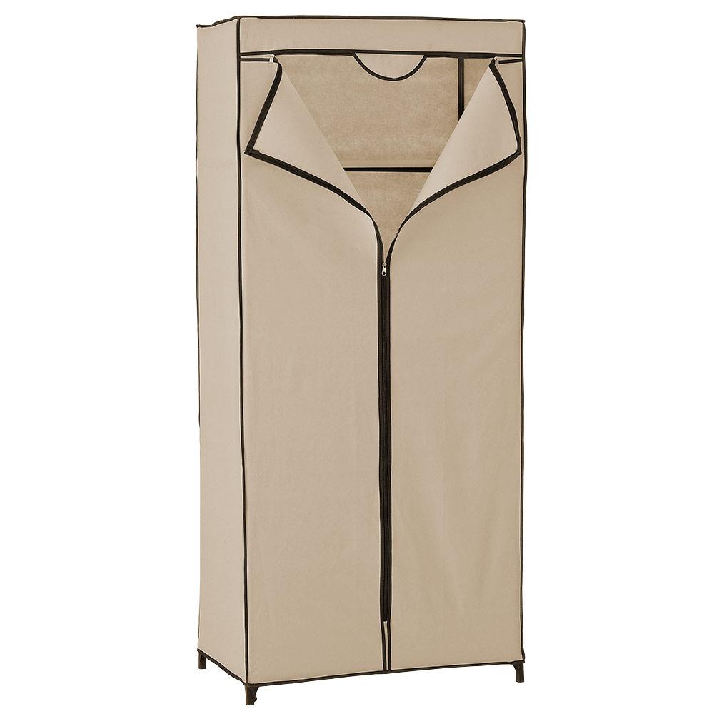 [neu.holz]® Textilný šatník - 160 x 70 cm - bežový