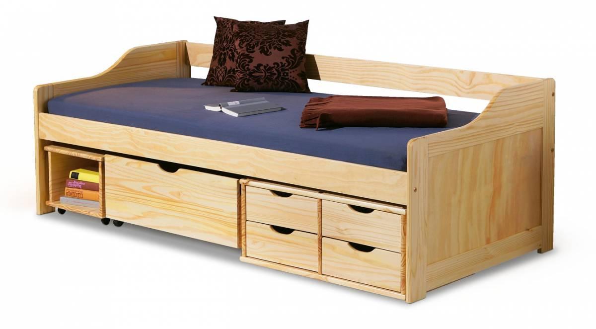Jednolôžková posteľ 90 cm Maxima (masív, s roštom)