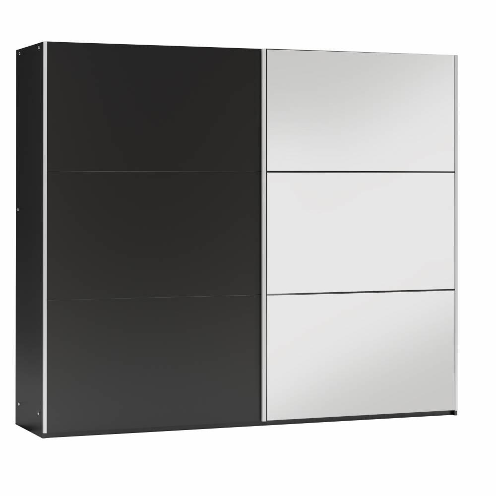 GOGO 250 šatníková skriňa so zrkadlom, čierna