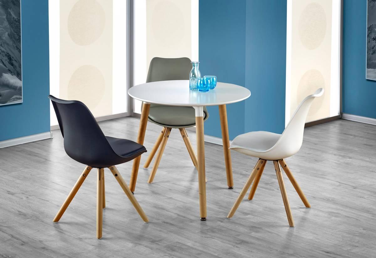 MODERNA okrúhly jedálenský stôl, buk/biela