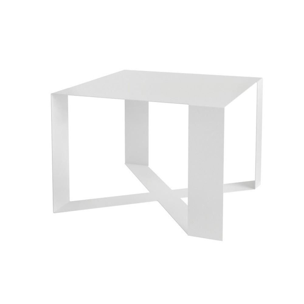 Biely konferenčný stolík Take Me HOME Cross, 55×55cm