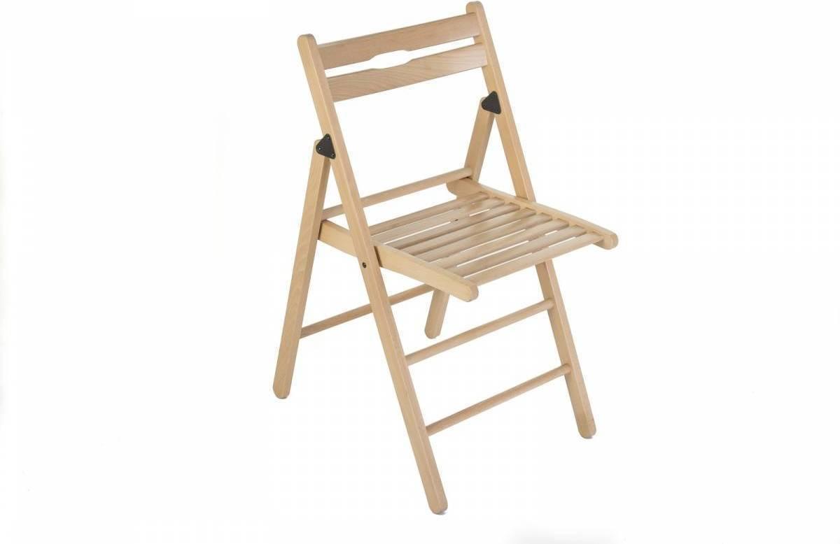 Skladacia stolička KLOPKLIP - prírodná