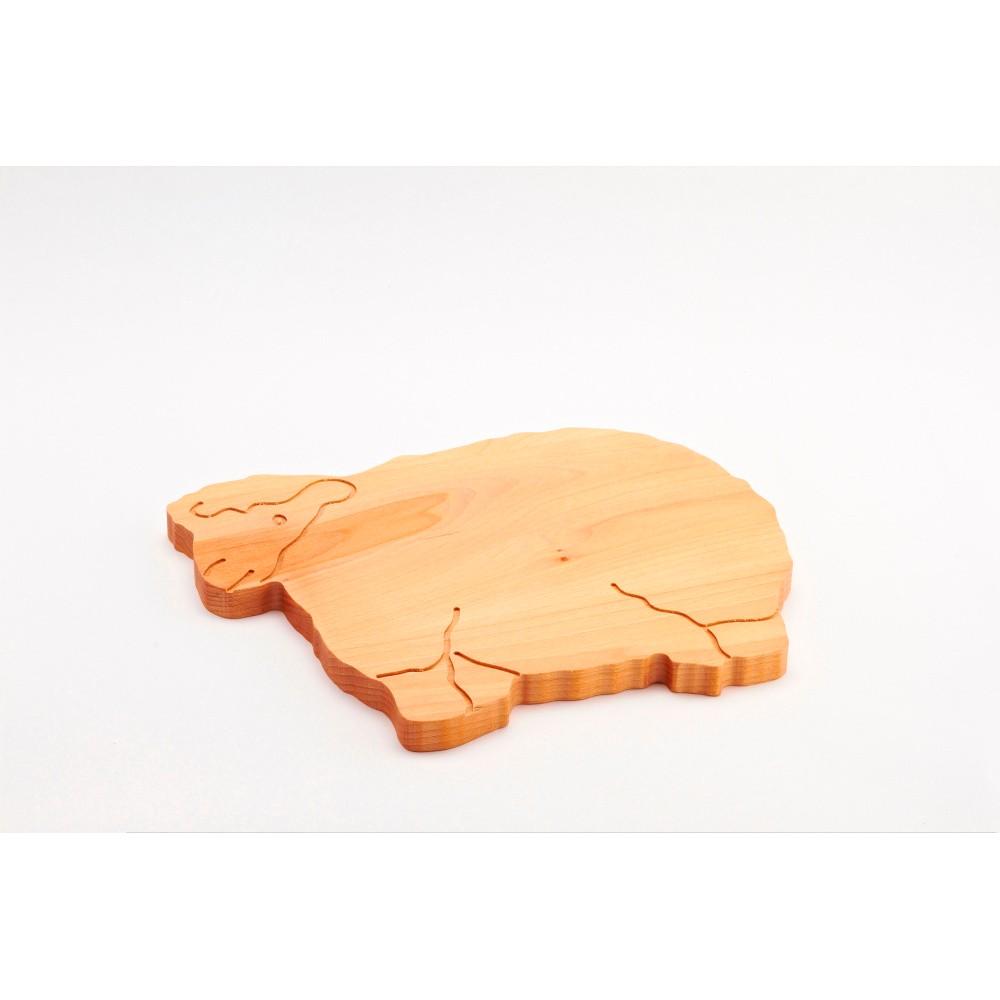 Lopárik z bukového dreva Bisetti Sheep, 34 x 29 cm