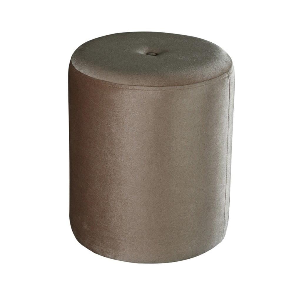 Sivý puf JohnsonStyle Ellen Magic Velvet, ⌀ 40 cm