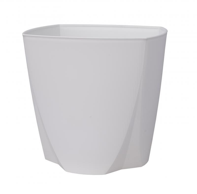 Plastový kvetináč Camy 21 cm, biela, Plastia, pr. 21 cm