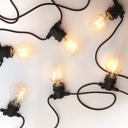 Exihand LO-3456 párty reťaz s 10 žiarovkami 8,4 m, teplá biela