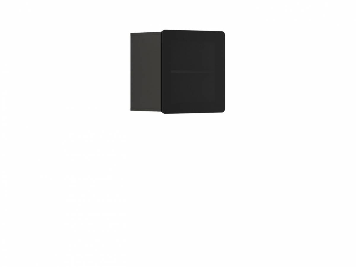 Vitrína na stenu Possi Light SFW1W/5/5 (sivý wolfram) (s osvetlením)