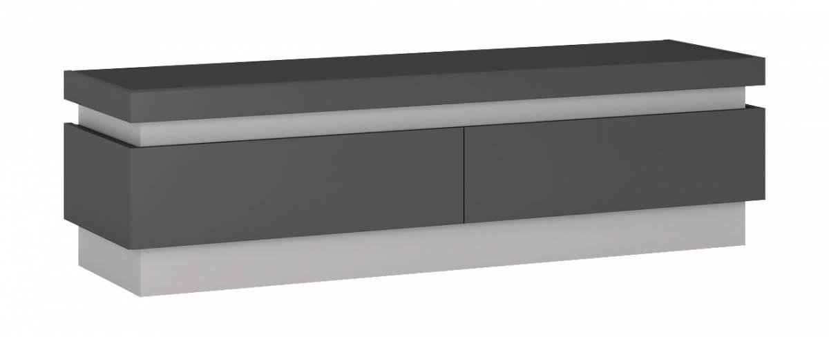 LYNO F01 televízny stolík 2S, lyon tmavý