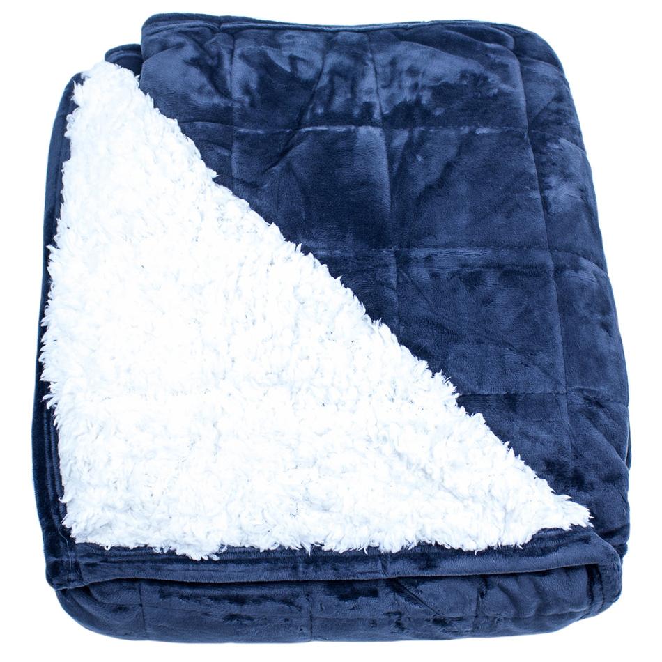 BO-MA Trading Baránková deka Erika modrá, 150 x 200 cm