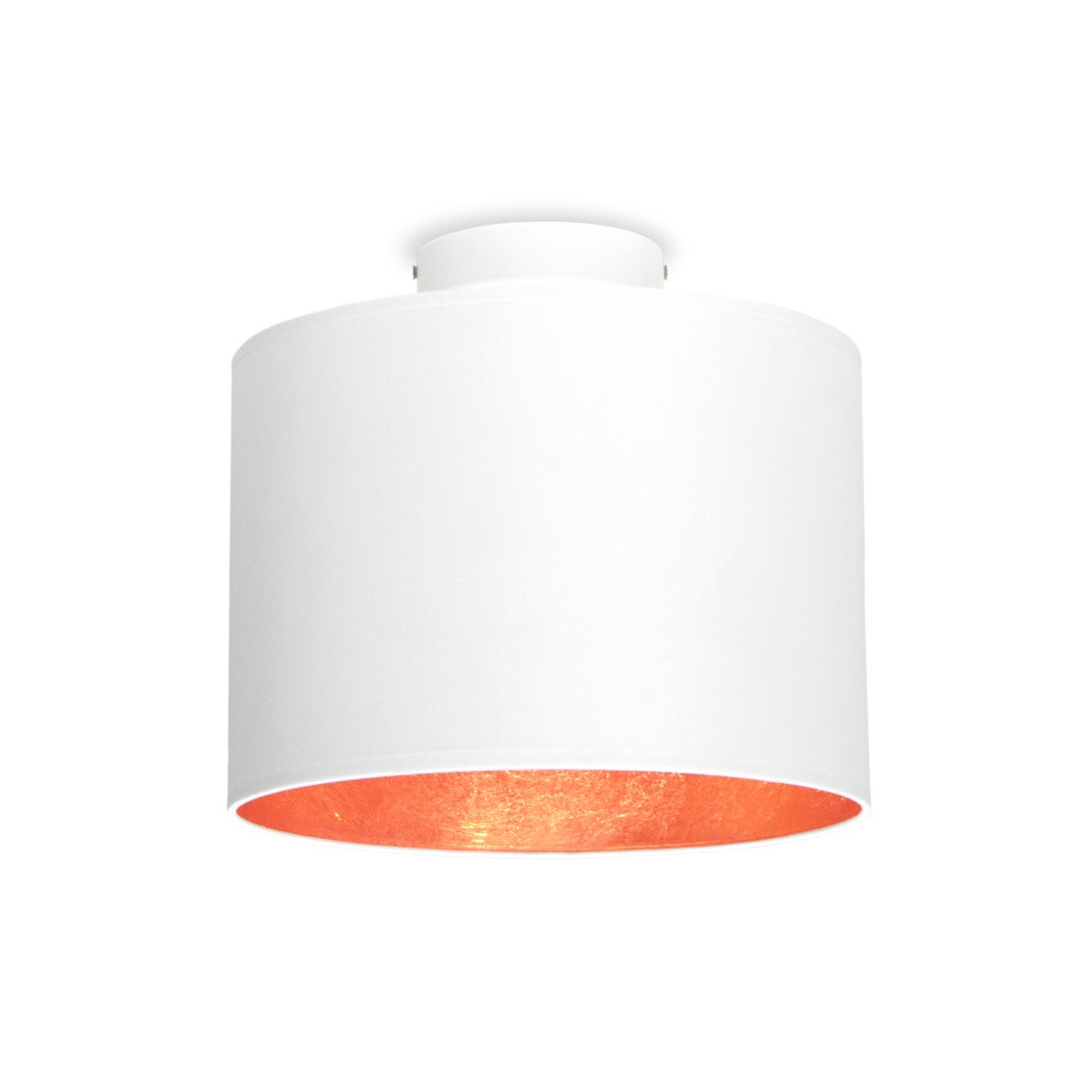 Biele stropné svietidlo s detailom v medenej farbe Sotto Luce MIKA, Ø25 cm