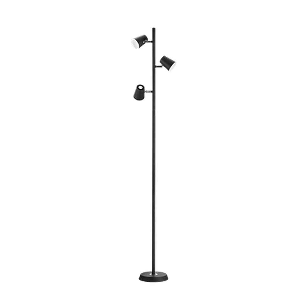 Čierna stojacia LED lampa Trio Narcos, výška 1,54 m