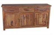 Furniture nábytok  Masívna komoda / príborník s 3 zásuvkami a 3 skrinkami z Palisanderu  Ázármehr  135x45x90 cm