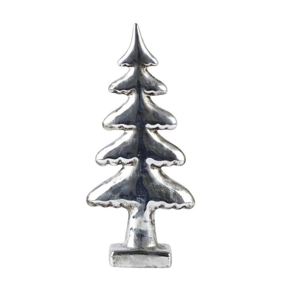 Dekoratívny stromček KJ Collection Silver, 22 cm
