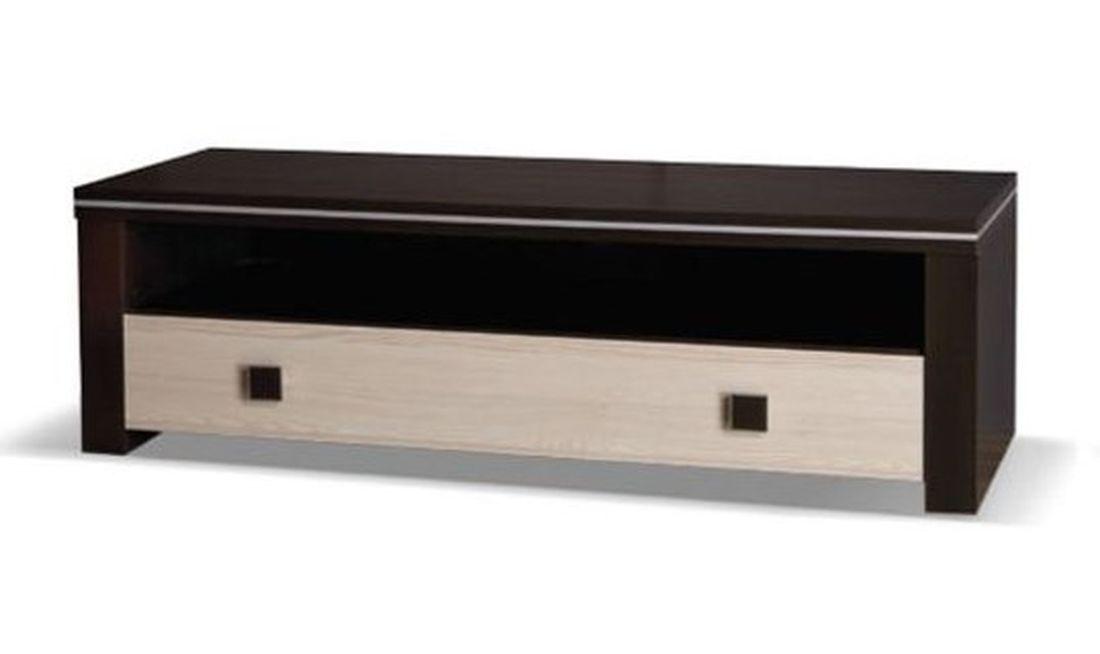 Televízny stolík WINNER 150, 47x150x50 cm, wenge/jaseň