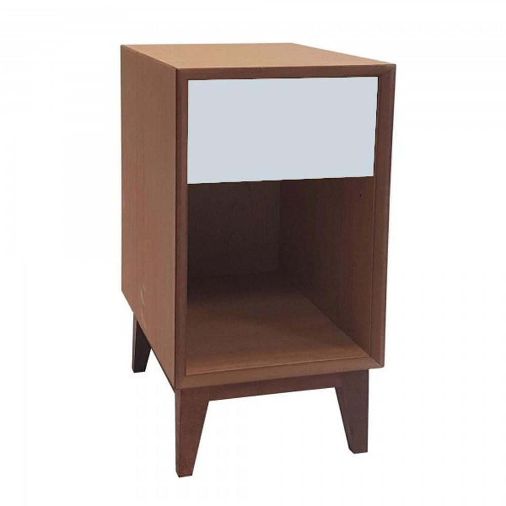 Veľký nočný stolík so svetlosivou zásuvkou Ragaba PIX