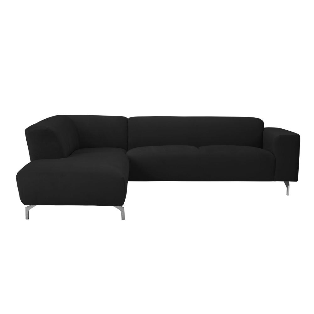 Čierna rohová pohovka Windsor & Co Sofas Orion, ľavý roh