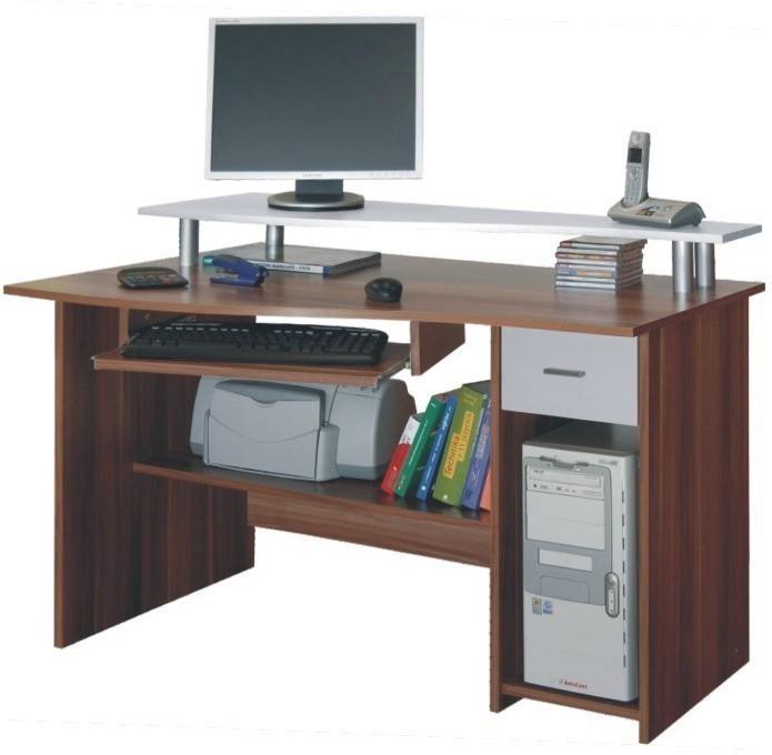 PC stolík, slivka/biela, PLUTO