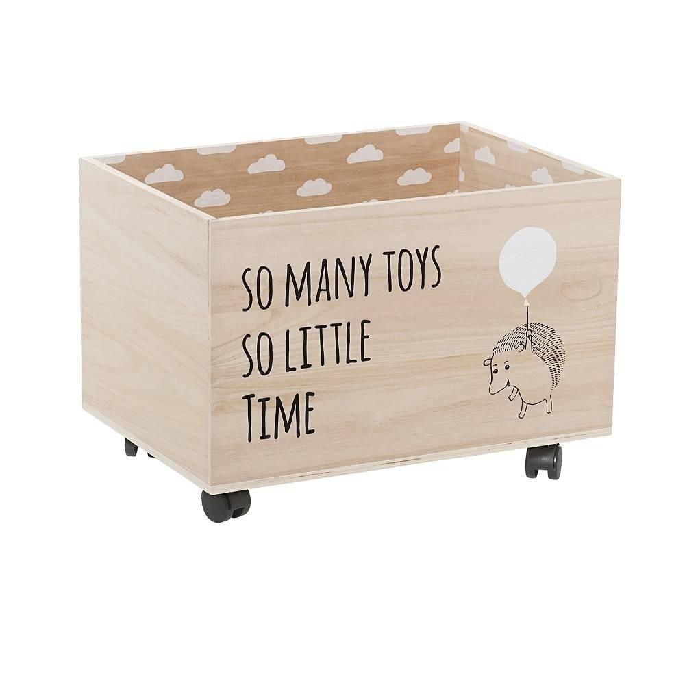 e6f82f0bf Drevený úložný box na hračky na kolieskach Bloomingville Storage Box