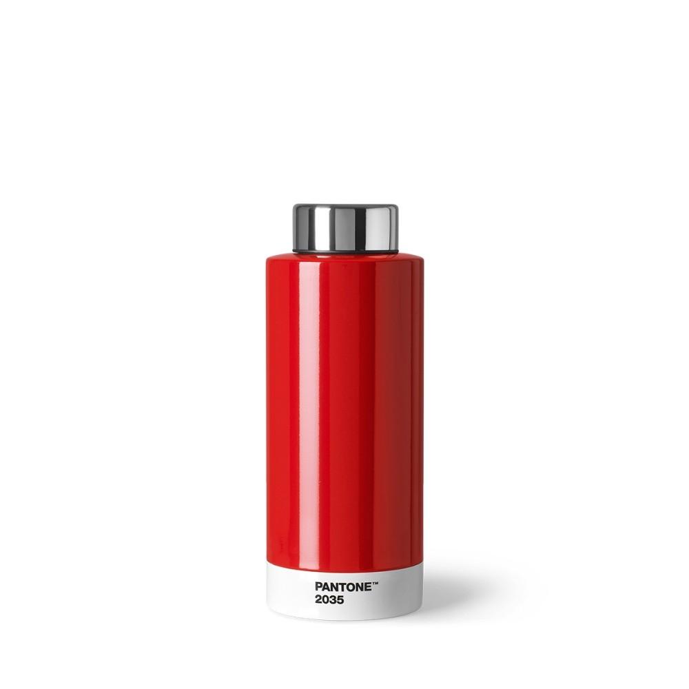 Červená fľaša z antikoro ocele Pantone, 630 ml