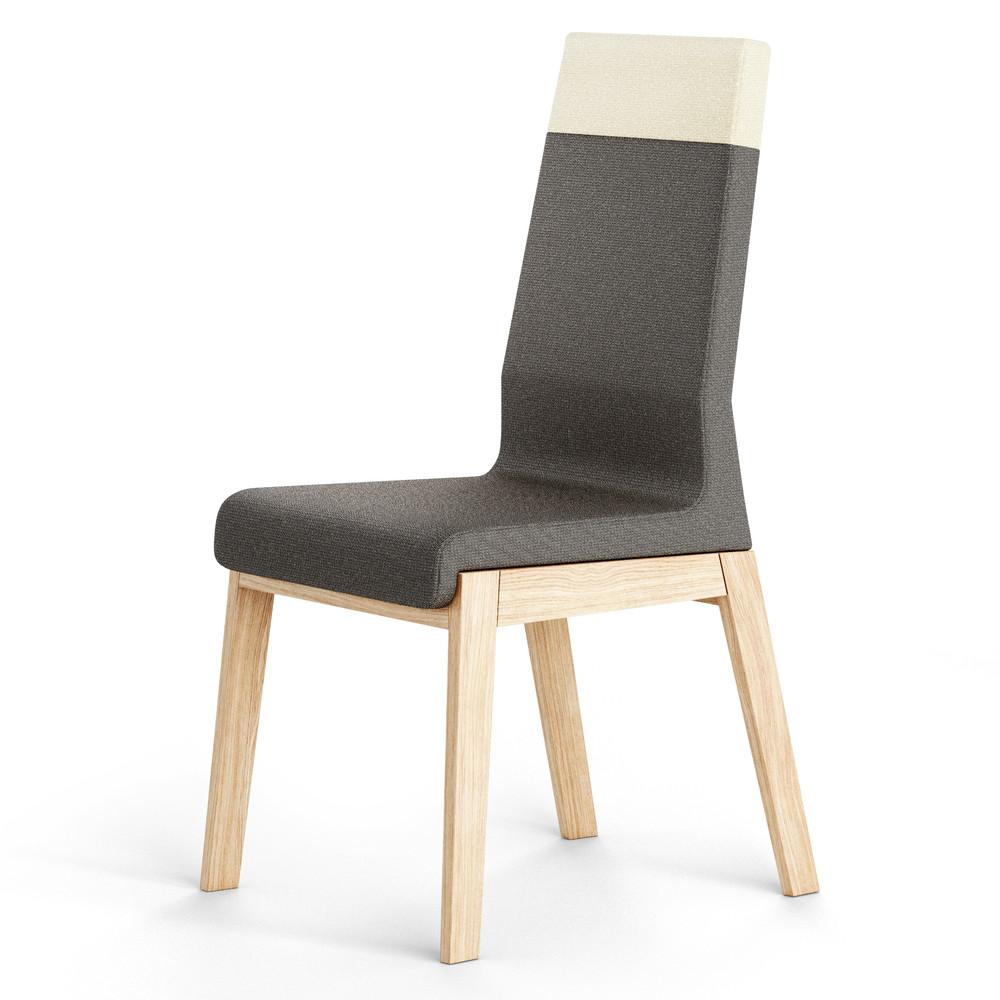 Čierna stolička z dubového dreva Absynth Kyla Two
