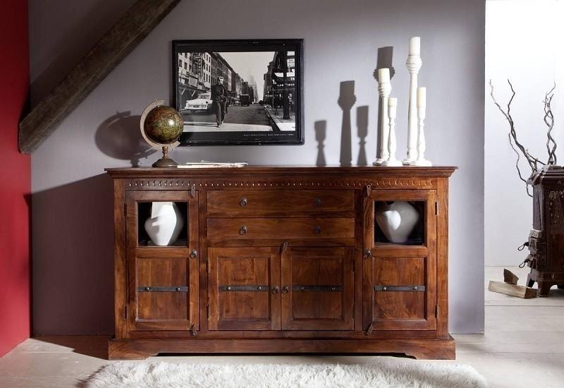OXFORD #453 Kolonialstil komoda, masívny agátový nábytok