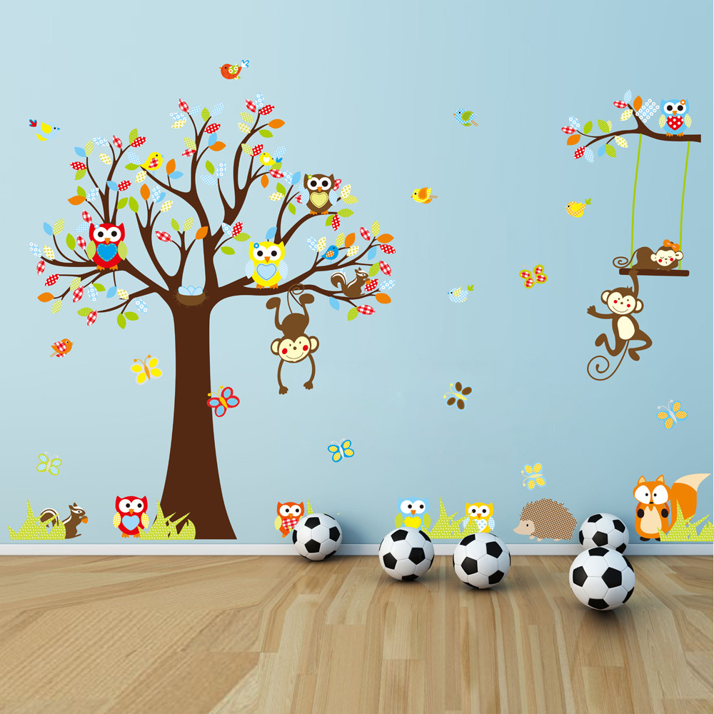 Samolepka Fanastick Cute Monkeys Playing On Trees