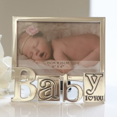 Bighome - Fotorámik BABY, 16,50 cm - strieborná