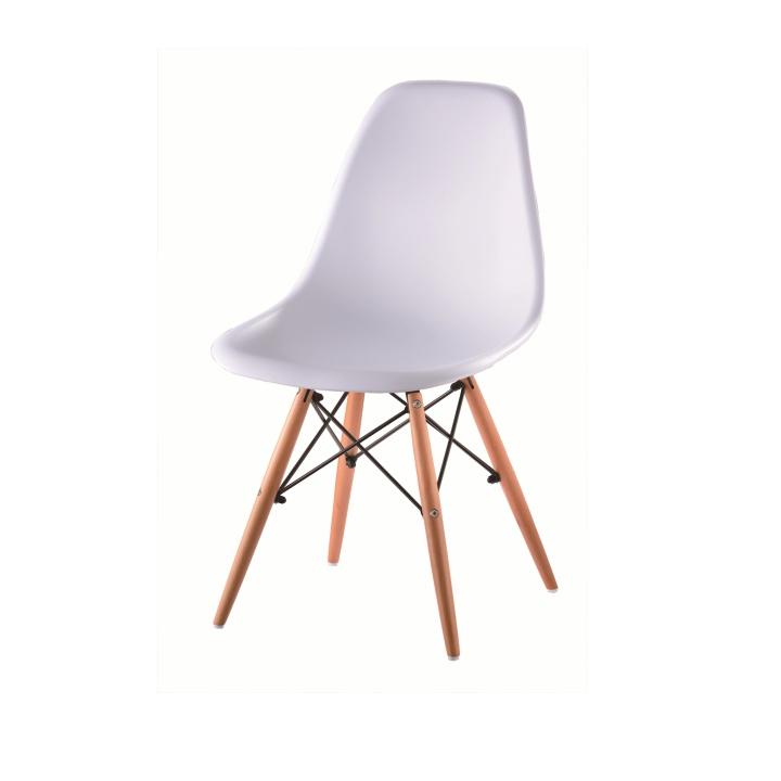 Stolička, biela + buk, CINKLA 2 NEW