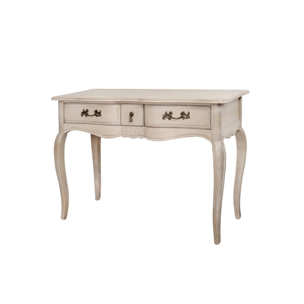 Béžový konzolový stolík z brezového dreva Livin Hill Venezia