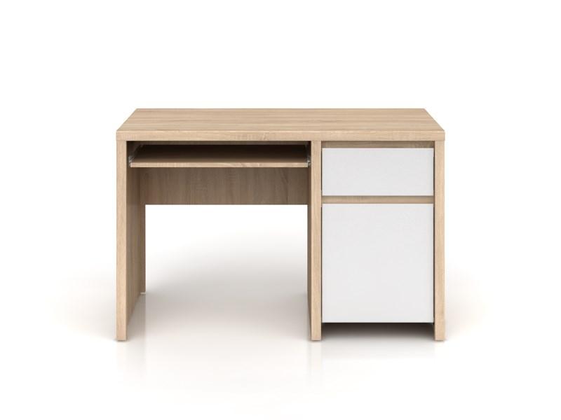PC stolík Kaspian BIU1D1S/120 (dub sonoma + lesk biely)