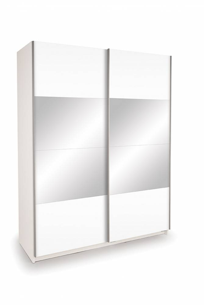 Skriňa EKO PLUS BT14 biela matná so zrkadlom 150