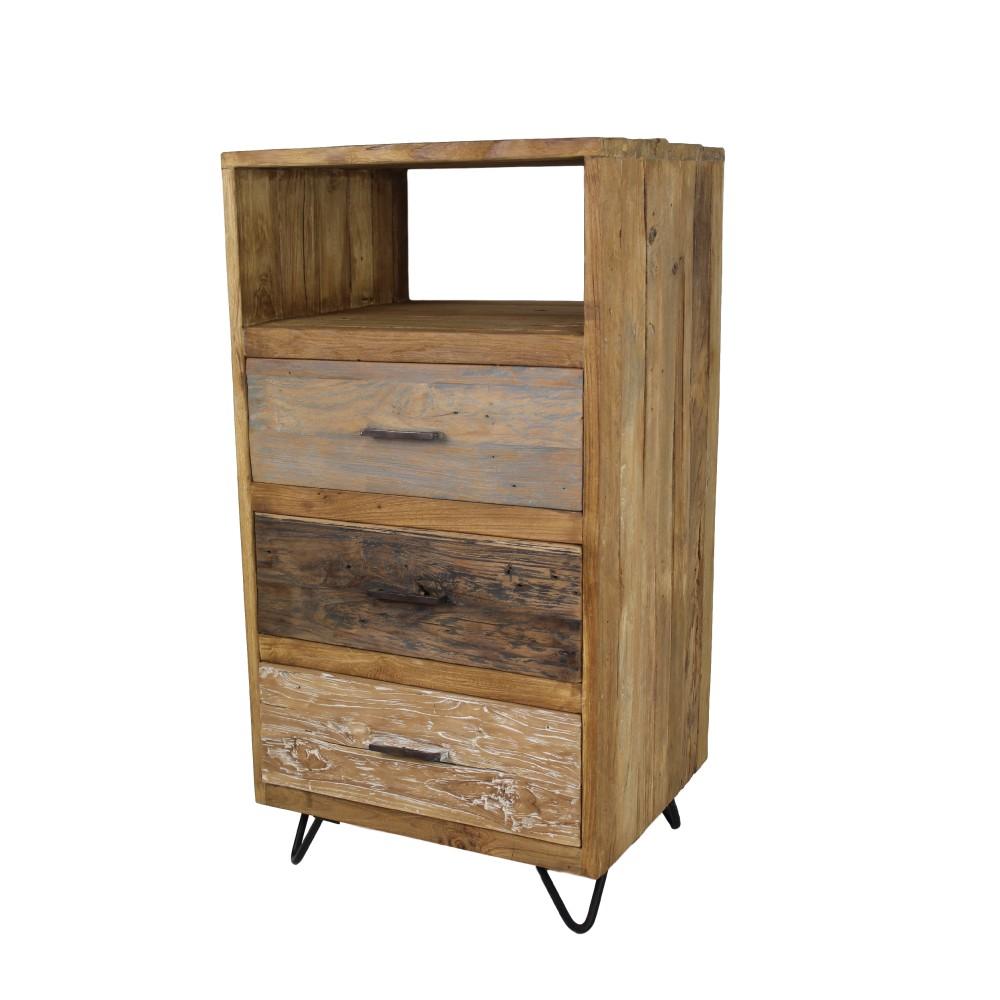 Vysoká komoda z teakového dreva HSM Collection Baliaga