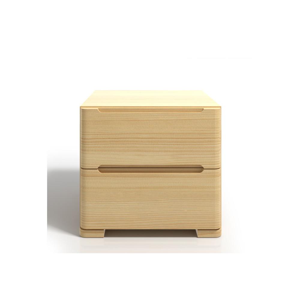 Nočný stolík z borovicového dreva s 2 zásuvkami SKANDICA Sparta