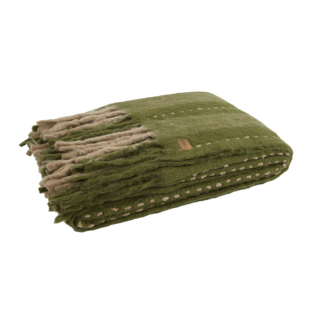 Zelená prikrývka De Eekhoorn Hug, 170×130cm