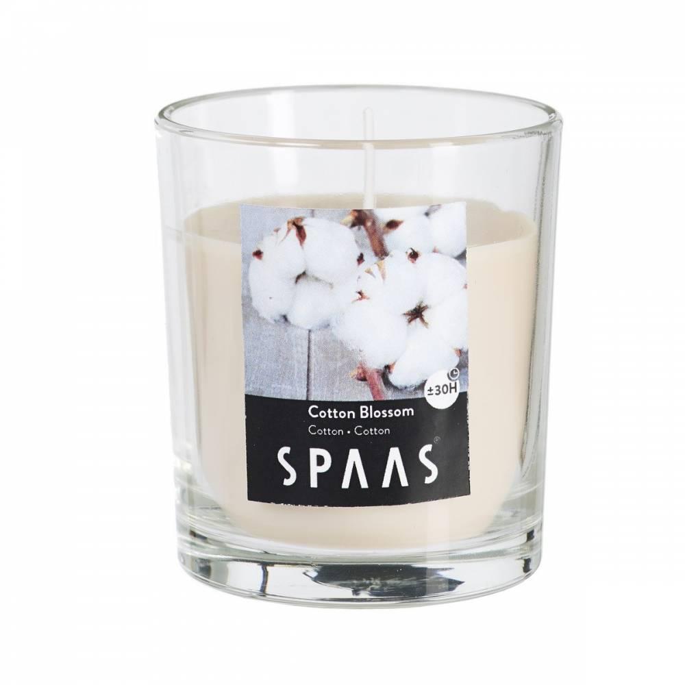 SPAAS Vonná sviečka v skle Cotton Blossom, 7 cm, 7 cm