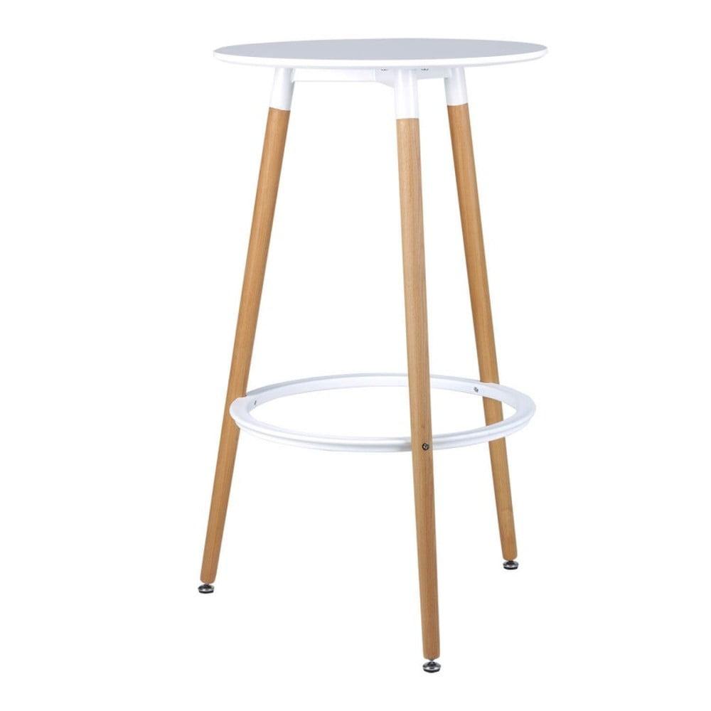 Bielo-hnedá barová stolička sømcasa Thea, výška 105 cm