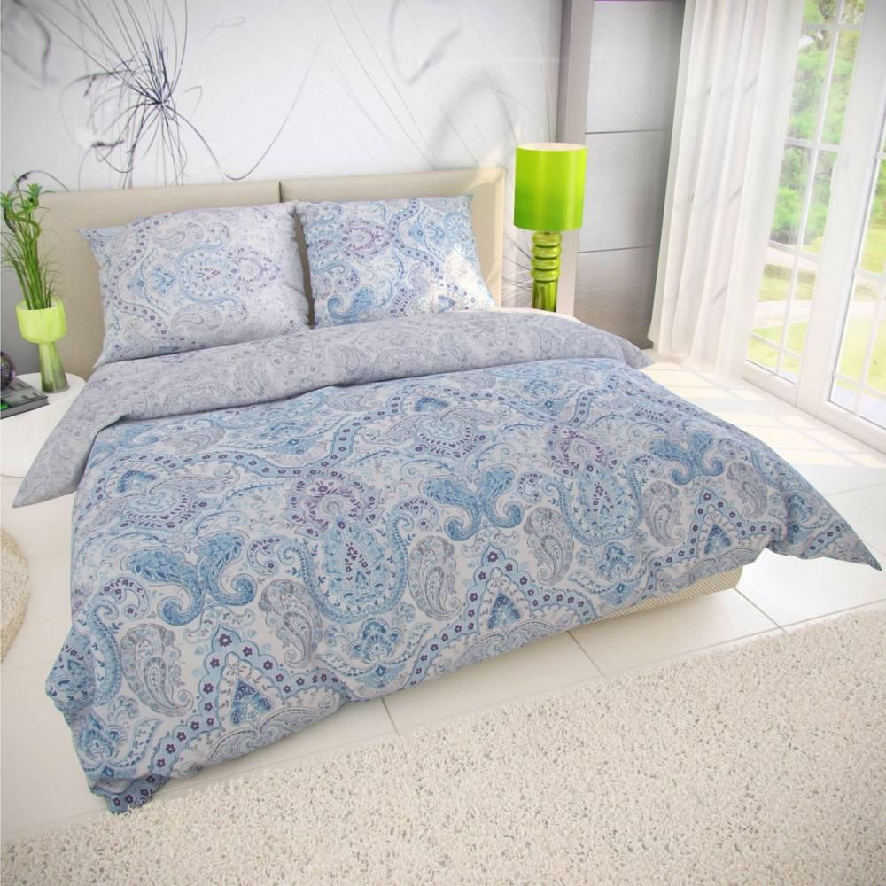 Kvalitex Bavlnené obliečky Paliza modrá, 200 x 200 cm, 2 ks 70 x 90 cm
