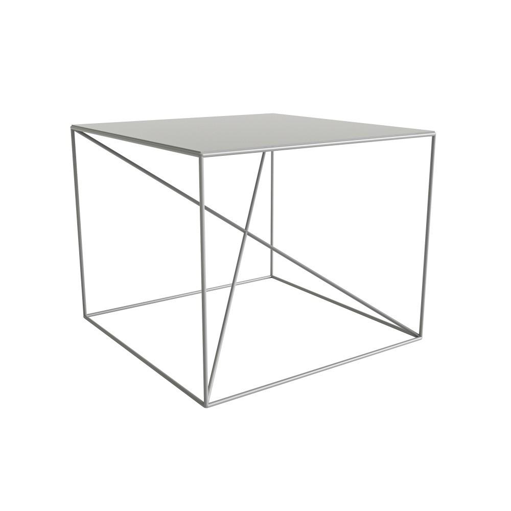 Biely konferenčný stolík Take Me HOME Malbork, 55×55cm
