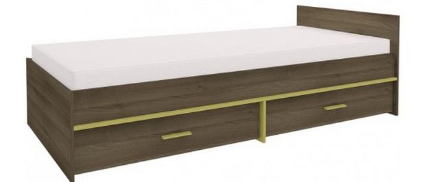Detská posteľ GEOMETRIC 07 / AGÁT   Farba: Olivová